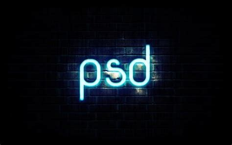 Create Neon Effect Photoshop Tutorials Psddude Neon Sign Photoshop Template