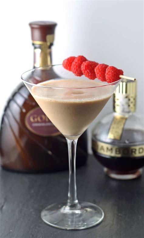 scharffen berger chocolate liqueur and a valentine martini chocolate raspberry martini recipe dishmaps