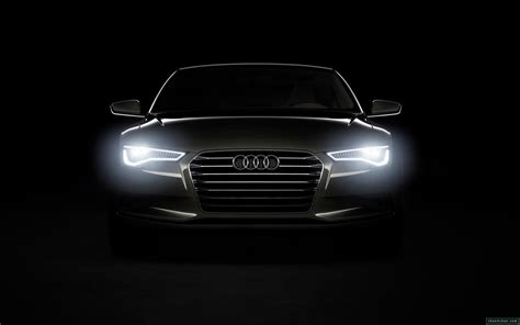 audi headlights in dark audi car black dark headlights