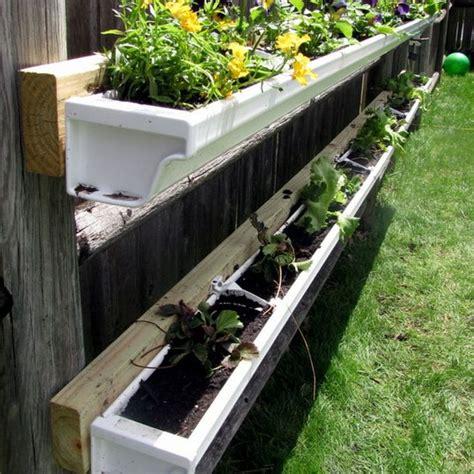 Gutter Vegetable Garden Diy Gutter Garden Gutter Garden Fences And Gardens