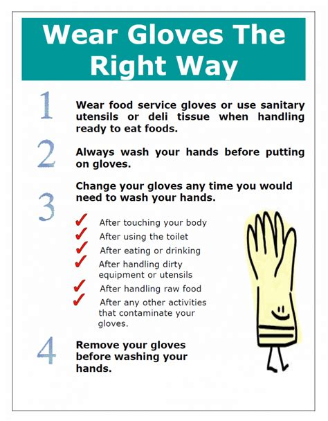 Should Food Servers Wear Gloves by Food Safety Posters Harwich Ma