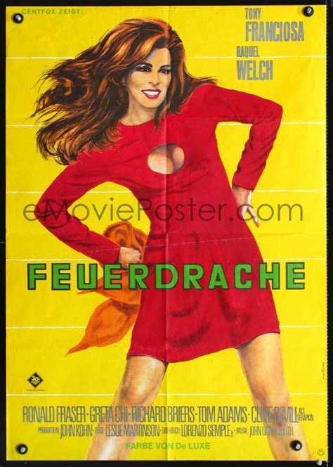 raquel welch famous poster fathom german poster klaus rutters raquel welch movie