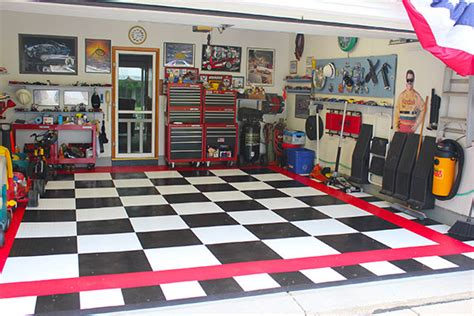 Garage Floor Paint Designs racedeck garage flooring free shipping from autoanything