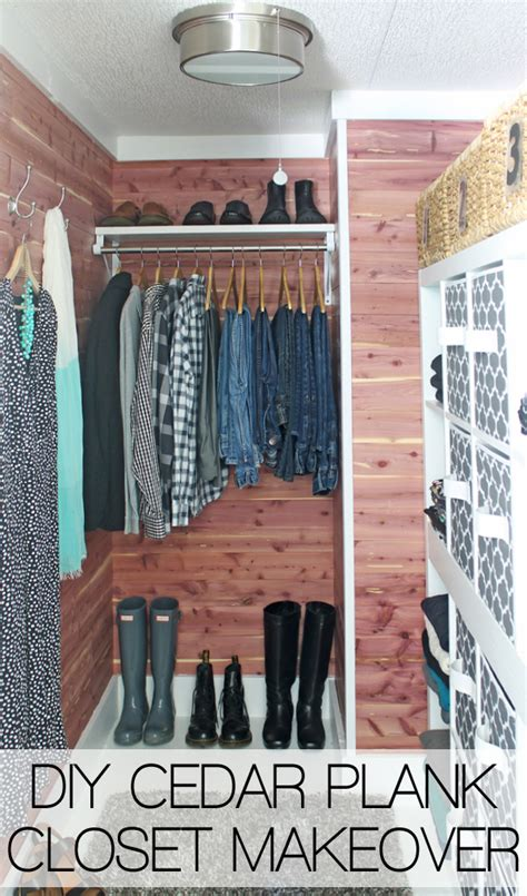 Cedar Planking For Closets by Diy Closet Makeover