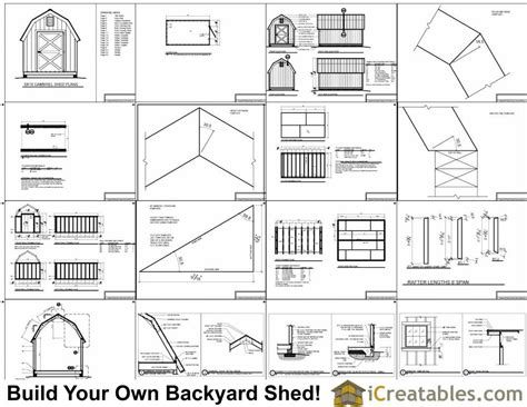 gambrel floor plans 8x14 gambrel shed plans small barn shed plans
