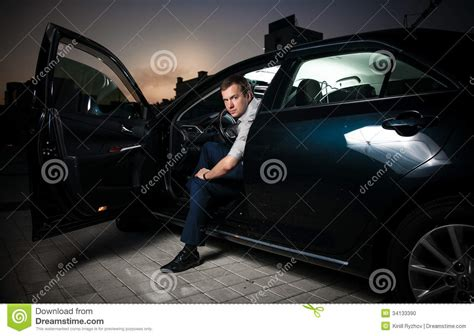 Car With Door In Front Sitting In Car Stock Photo Image 34133390