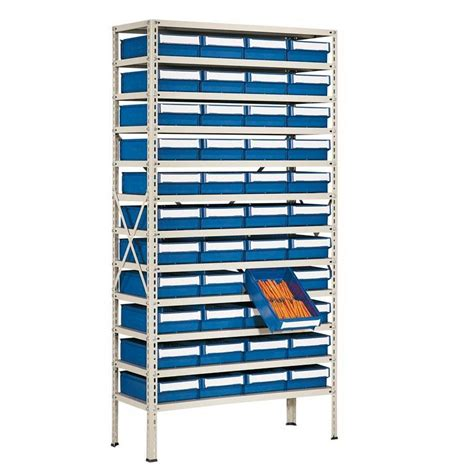 Small Parts Racking package deal small parts shelving with 44 bins aj products