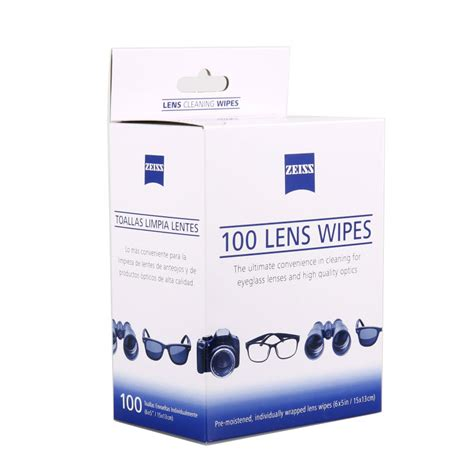 100 pcs zeiss individally wrapped lens cleaning cloths