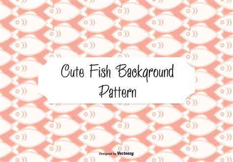 cute background pattern vector cute fish pattern background download free vector art