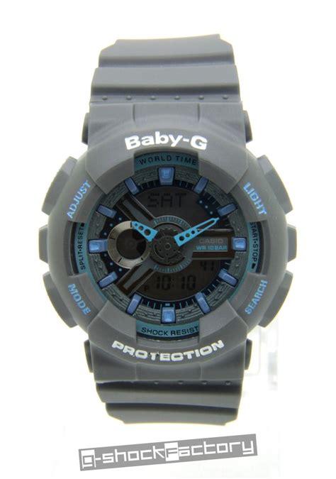 Baby G Ba 110 Blue g shock baby g ga 110ts ba 110ts set grey blue by www g shockfactory