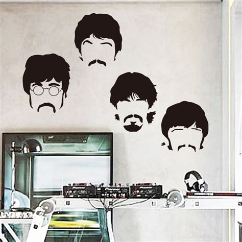 beatles home decor art design cheap vinyl home decoration beatles wall
