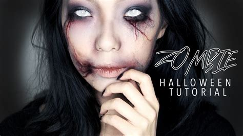 zombie girl makeup tutorial creepy zombie girl halloween makeup tutorial youtube