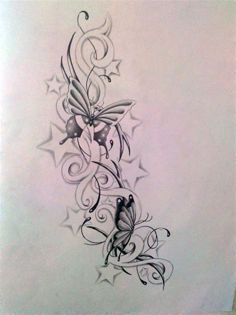 flower star tattoo designs butterfly with designs butterfly and s