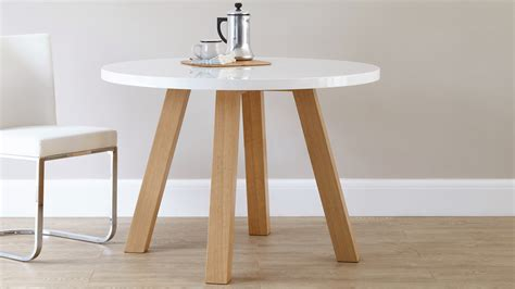 Dining Table White Legs Wooden Top White Top Wooden Leg Dining Tables Homegirl