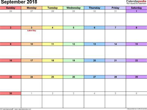 September 2018 Calendar Template   2017 calendar with holidays