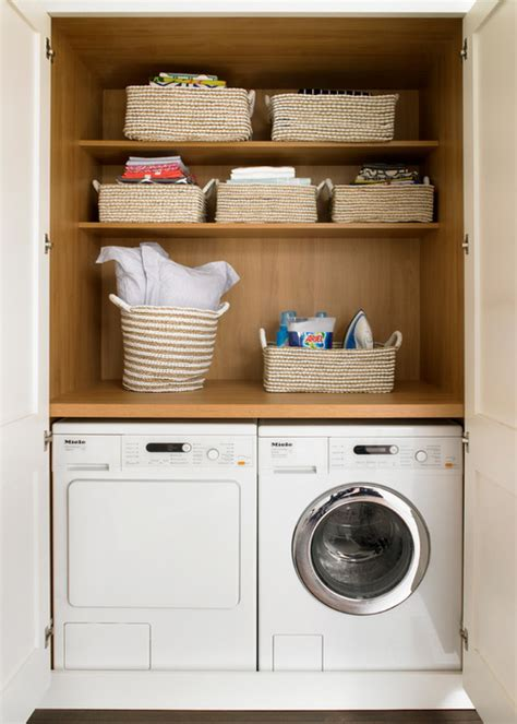 washing machine in kitchen design clever places to squeeze your washing machine and dryer