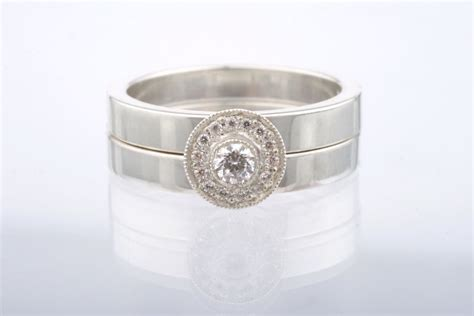 Unique Handmade Wedding Rings - unique engagement rings halo setting handmade weddings on
