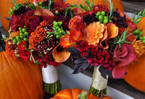 fall flowers for weddings fall wedding flower arrangements wedding and bridal