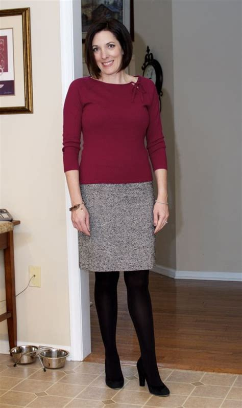 tight sweaters and skirts images