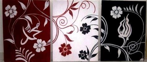 Lukisan Tangan Lukisan Bunga Kaligrafi Sks 5 sold 3 panel allah dan muhammad lukisan kaligrafi murah