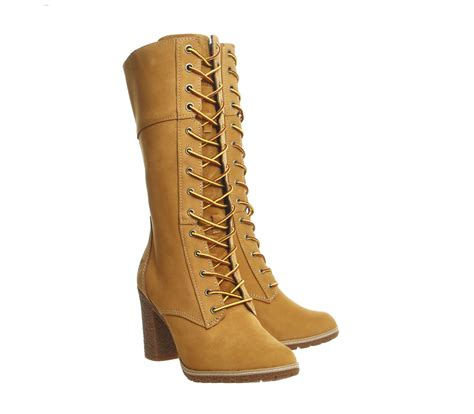 10 inch boots timberland glancy 10 inch lace boots wheat nubuck