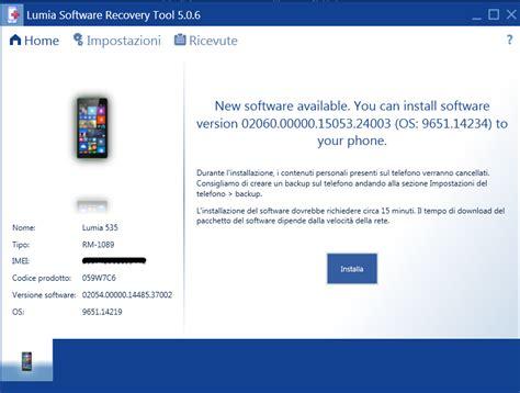 microsoft lumia 535 software update and downloads lumia 535 disponibile al download un nuovo update