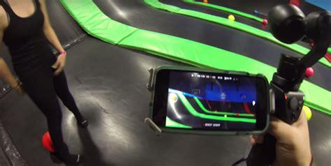 putting  handheld  dji osmo   teston trampolines