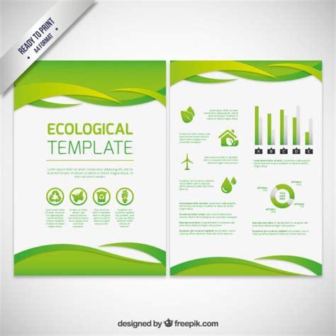 nature brochure template vector premium download ecological abstract brochure vector premium download