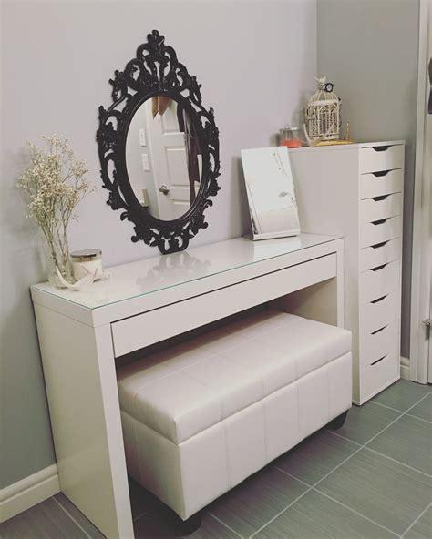 ikea vanity desk with drawers updated vanity malm desk ikea alex drawers ikea