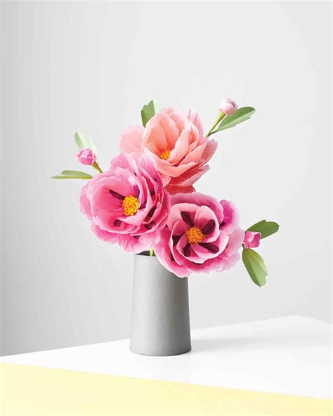 Make Tissue Paper Flowers Martha Stewart - flowers that last forever 10 blooms you can make using