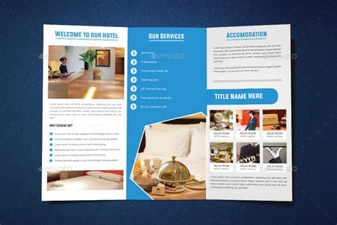 hotel tri fold brochure design by graphicsdesignstudio