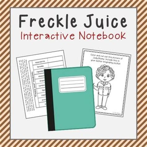 freckle juice book report freckle juice interactive notebook novel unit study