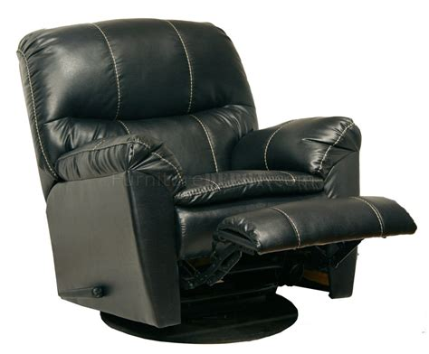 Black Recliner by Black Leather Touch Cosmo Modern Swivel Glider Recliner