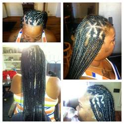 triangle parts hair box braids triangle parts done by me
