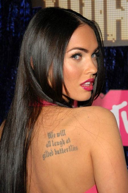 megan fox tattoos megan fox height weight statistics healthy