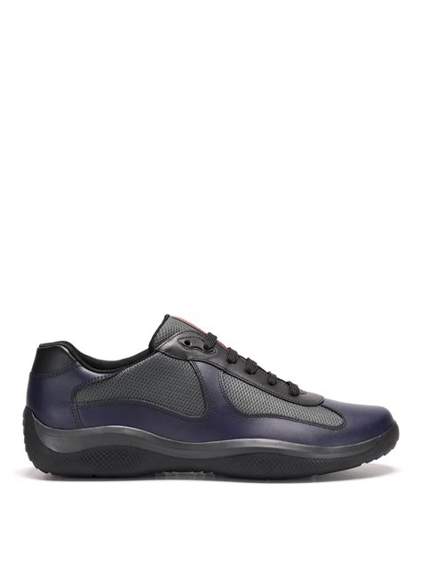 prada sneakers leather and fabric sneakers by prada linea rossa