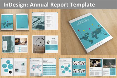 in design brochure template indesign annual report template 16 pages v01