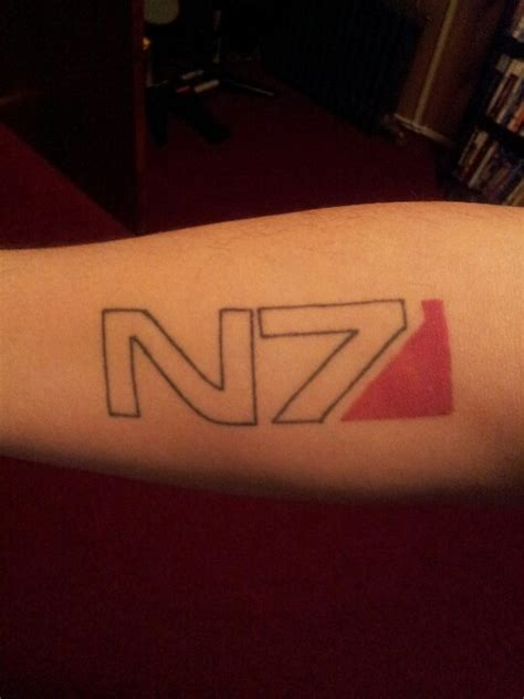 my mass effect n7 videogame tattoo tattoos belonging