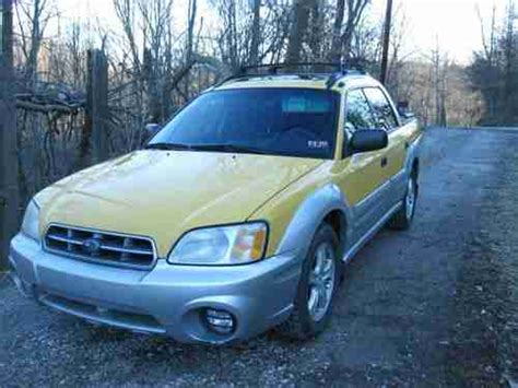 yellow subaru baja find used 2003 yellow subaru baja in charleston west