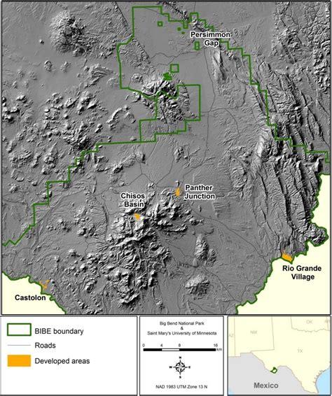 big bend park map big bend maps npmaps just free maps period