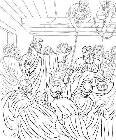 Camel And The Evil Colouring Book Children S Stories From jesus heals paralytic coloring page supercoloring