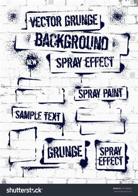 grunge spray paint font various spray paint graffiti on brick wall frame with