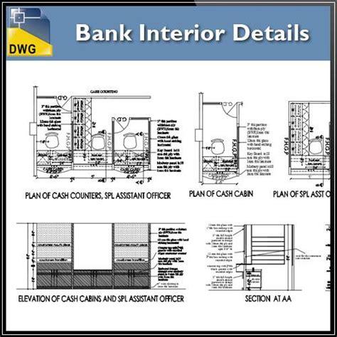 bank interior layout plan bank interior design drawings cad design free cad