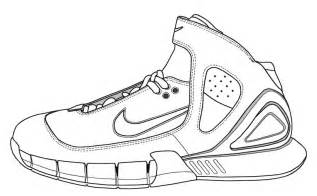 coloring pages nike lebron shoes page fo osite sketch template - Lebron James Shoes Coloring Pages