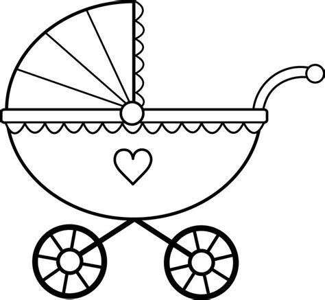 baby carriage template for cards scal svg baby stroller buggy templates