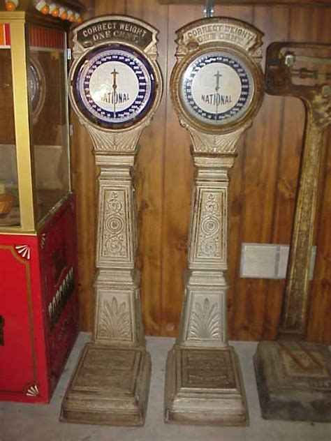 national weighing machine coin op scale penny weight scale