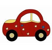 Im&225genes Infantiles Coche Rojo Con Estrellas