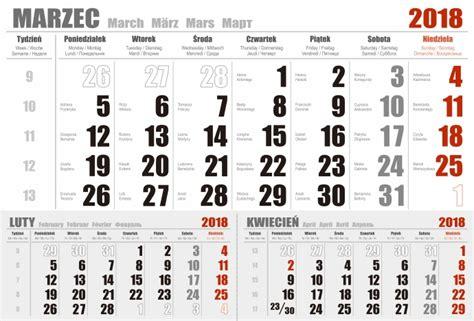 Kalendarz Ze świętami Na 2018 Rok Kalendarium Jednodzielne 2018 Projekt Do Druku Pdf Eps