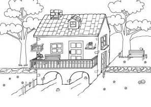 haus malen kostenlose malvorlage menschen und ihr zuhause haus am