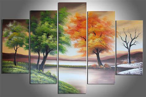 Painting 4 Seasons by 2017 100 Handmade Painting Four Seasons Tree Painting
